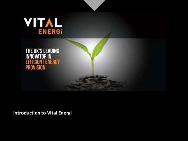Introduction to Vital Energi