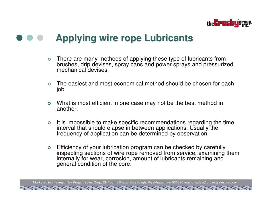 Amazing Wire Rope Lubricants Applications Sketch - Schematic Diagram ...