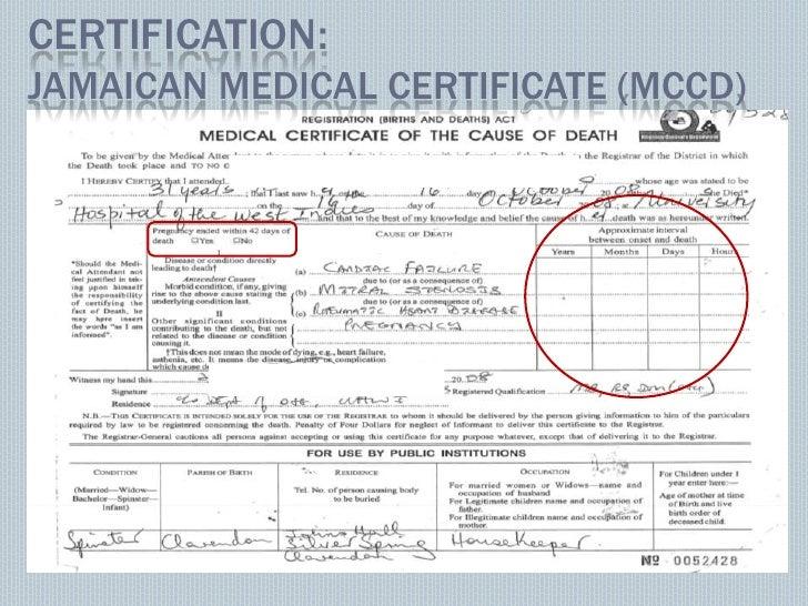 Vital registration maternal mortality. Case of Jamaica