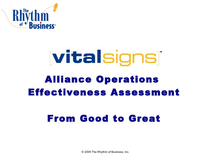Alliance Operations  Effectiveness Assessment From Good to Great