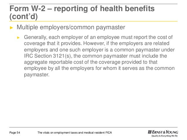 The Vitals On Employment Taxes And Medical Resident Fica