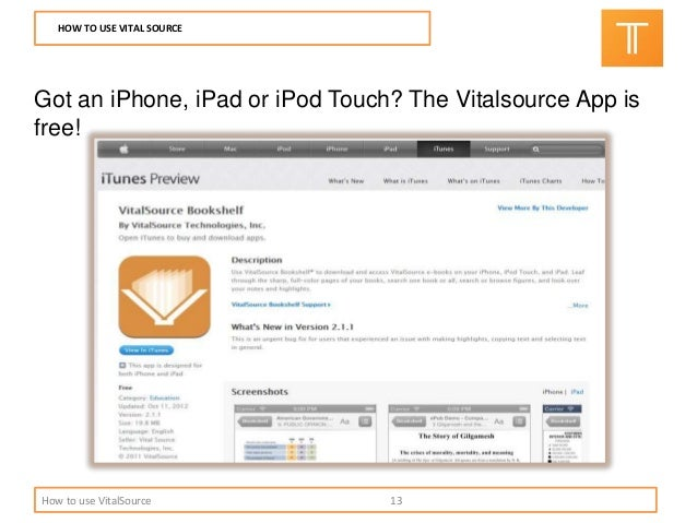 vitalsource bookshelf app