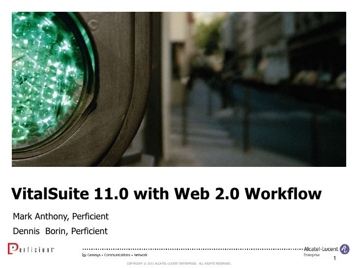 VitalSuite 11.0 with Web 2.0 Workflow<br />Mark Anthony, Perficient<br />Dennis  Borin, Perficient<br />1<br />