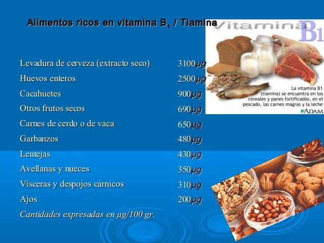 Vitamina b1 - Alimentos ricos en b1 ...