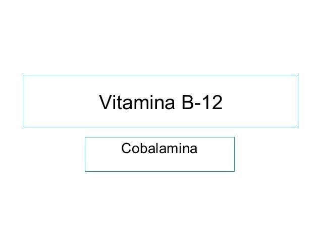 Vitamina B-12 Cobalamina