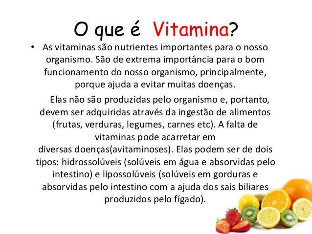 94cc8b4d3 Vitaminas  2. O que é Vitamina