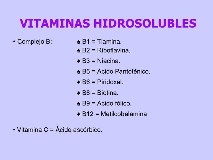 Vitaminas Hidrosolubles