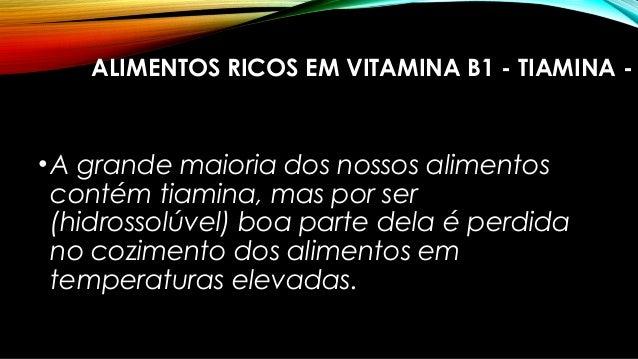 Vitaminas hidrossol veis b1 b2 b3 b5 e b6 - Alimentos ricos en b1 ...