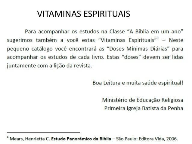 VITAMINAS ESPIRITUAIS