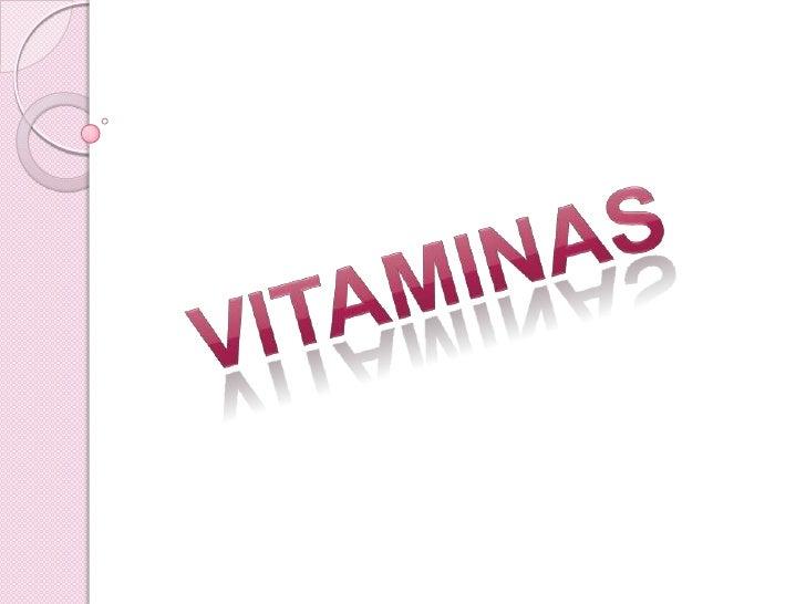 VITAMINAS<br />