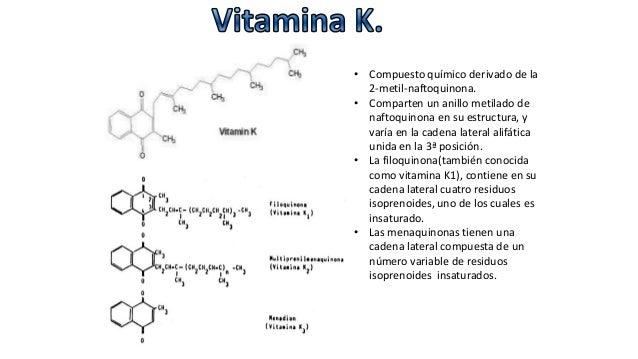 Vitaminas, Química