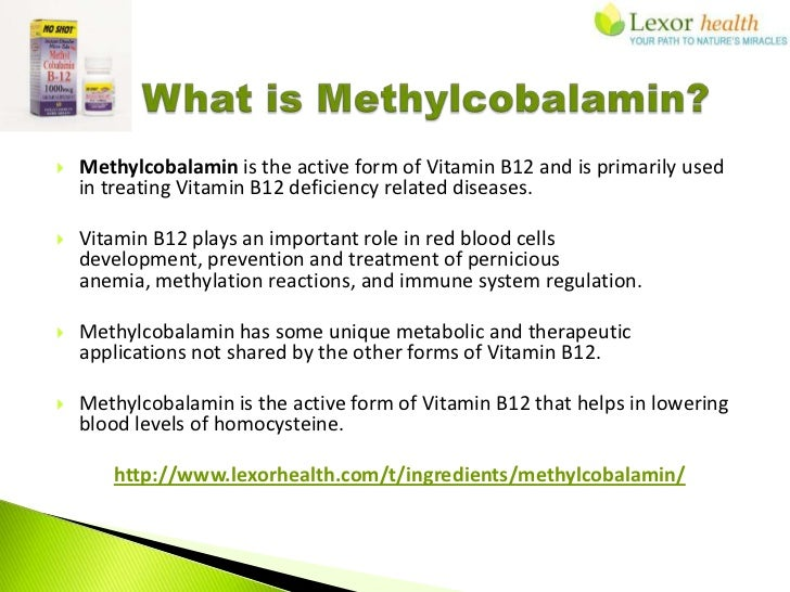 Vitamin B12 Methylcobalamin Supplements Lexor Health