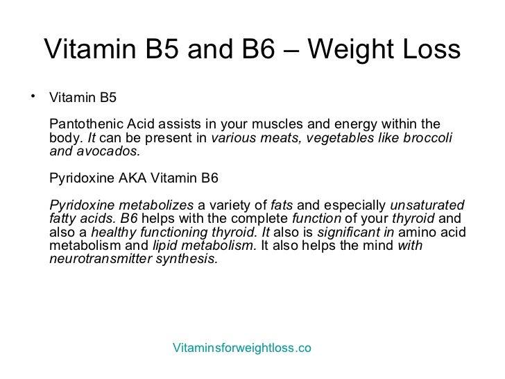 b6 vitamin to lose weight