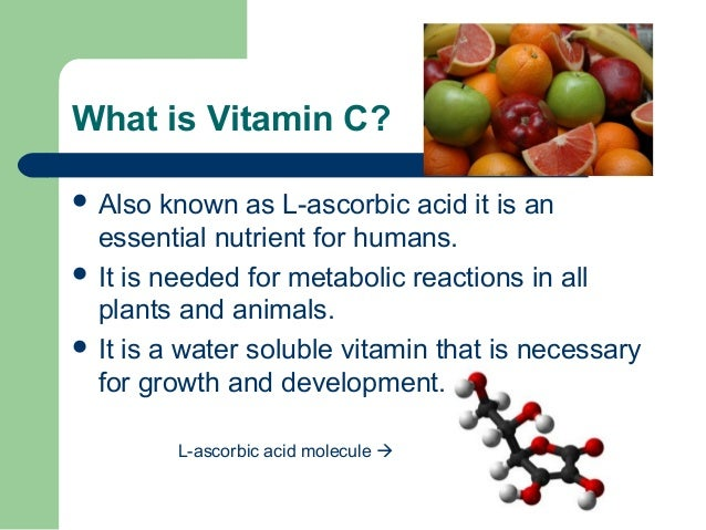 Making History With Vitamin C Powerpoint