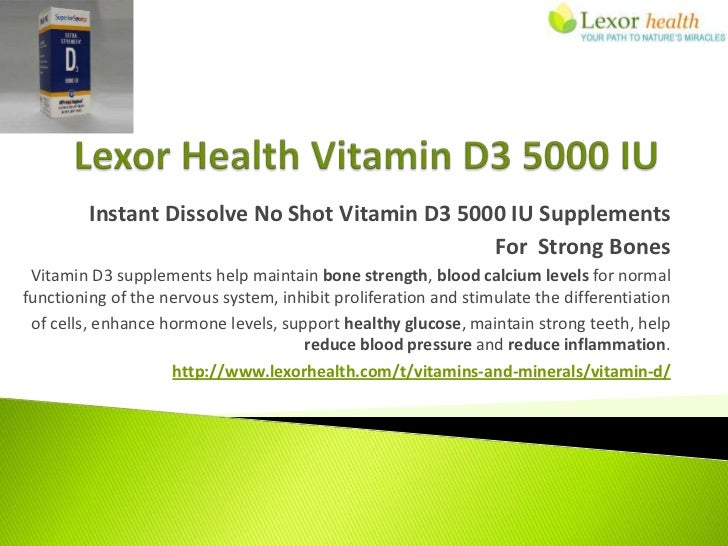 Instant Dissolve No Shot Vitamin D3 5000 IU Supplements                                                For Strong Bones Vi...