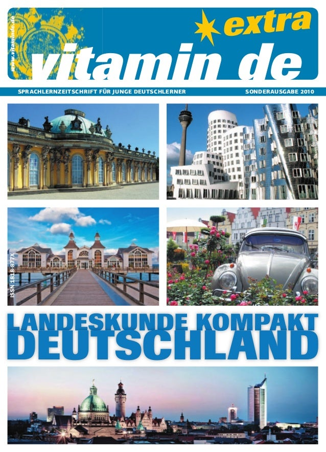 vitamin de  SPRACHLERNZEITSCHRIFT FÜR JUNGE DEUTSCHLERNER  SONDERAUSGABE 2010