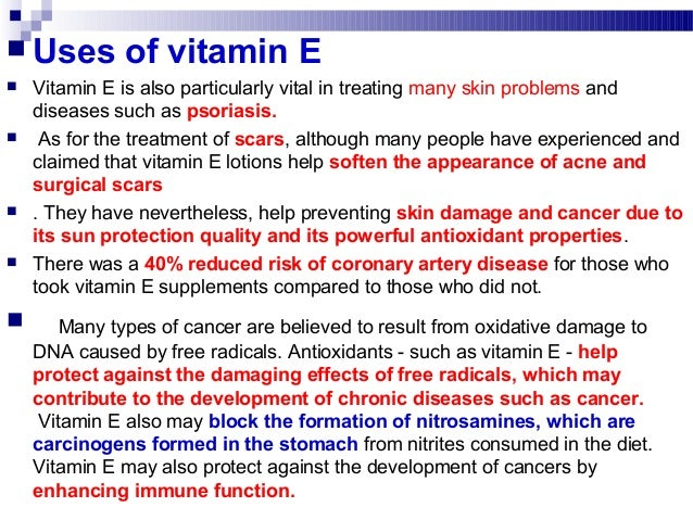 an introduction to the benefits of vitamin e O vitamin e is anti-inflammatory, anti-estrogenic, anti-lipid peroxidation, energy promoter, progesterone sparing, lowers intra-cellular ca and a deficiency will allow for an increased conversion .