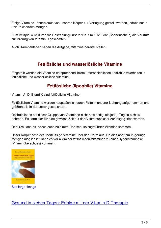 sind vitamine gesund