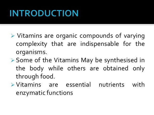 The Nature and Function of the Antineuritic Vitamine