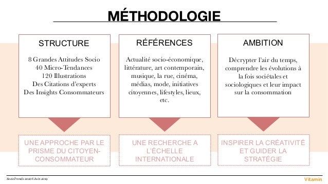 MÉTHODOLOGIE STRUCTURE  8 Grandes Attitudes Socio 40 Micro-Tendances 120 Illustrations Des Citations d'experts Des Insight...