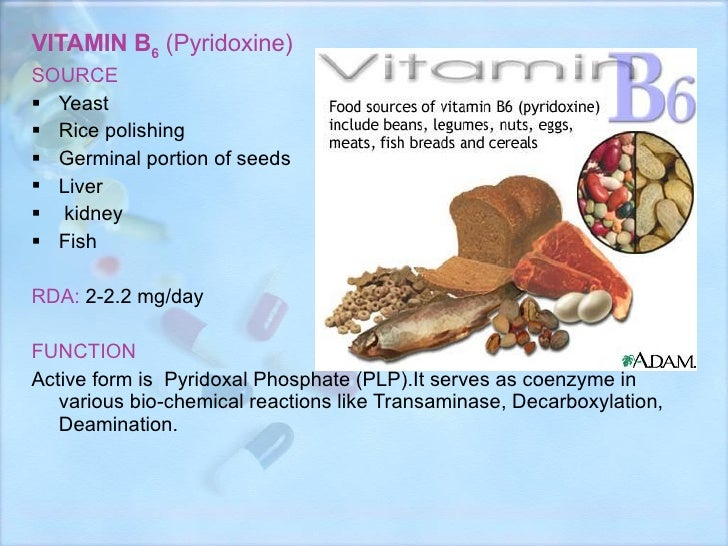 VITAMIN B 6   (Pyridoxine) <ul><li>SOURCE </li></ul><ul><li>Yeast </li></ul><ul><li>Rice polishing </li></ul><ul><li>Germi...