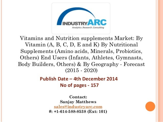 Vitamins and Nutrition supplements Market: By Vitamin (A, B, C, D, E and K) By Nutritional Supplements (Amino acids, Miner...