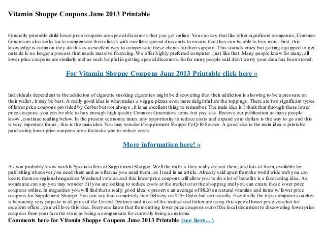 picture regarding Vitamin Shoppe Printable Coupons named Vitamin shoppe coupon codes june 2013 printable