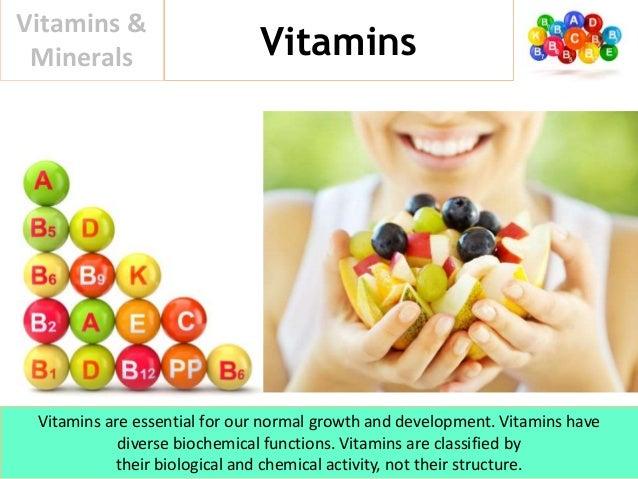 Vitamins & Minerals Slide 3