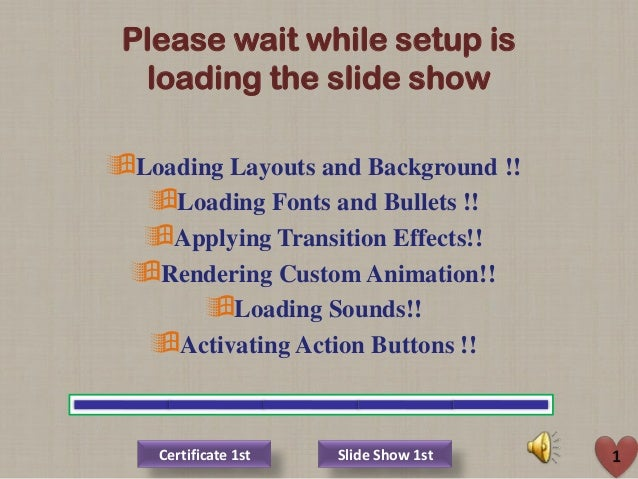 Please wait while setup is loading the slide show Loading Layouts and Background !! Loading Fonts and Bullets !! Applyi...