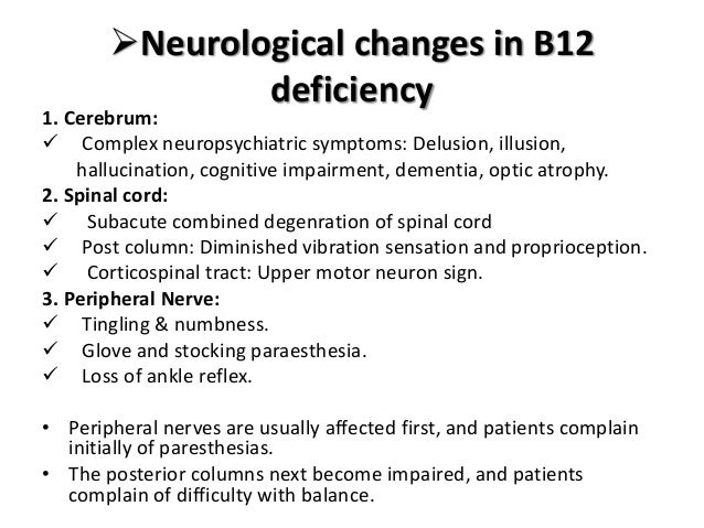 Vit b12 deficiency causes and management B12 Deficiency Spinal Cord