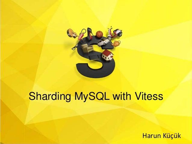 Sharding MySQL with Vitess Harun Küçük