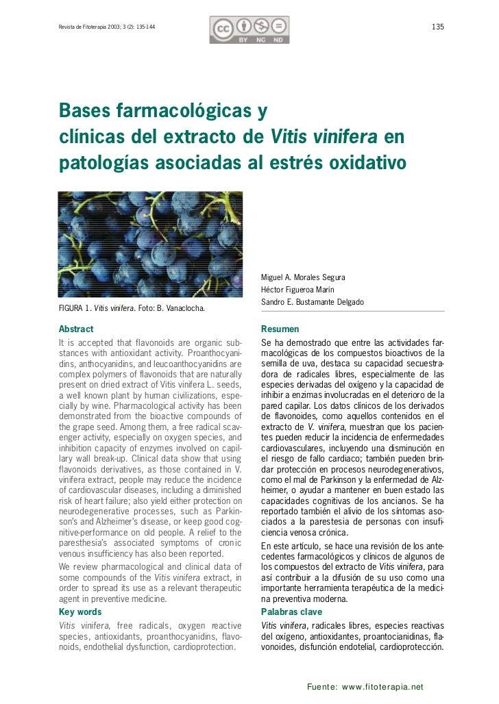 Revista de Fitoterapia 2003; 3 (2): 135-144                                                              135Bases farmacol...