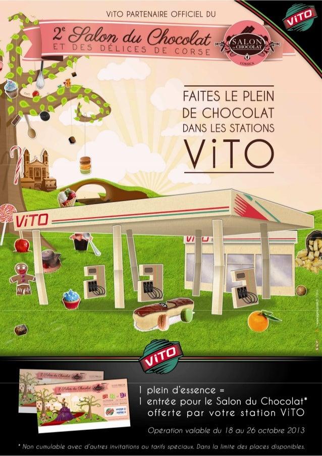 VITOGAZ vous présente :ViTO Corse soutient le Salon du chocolat