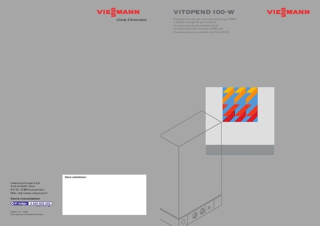 VITOPEND 100-W Chaudière murale gaz micro-accumulée, type WHKB à brûleur atmosphérique modulant et confort eau chaude sani...