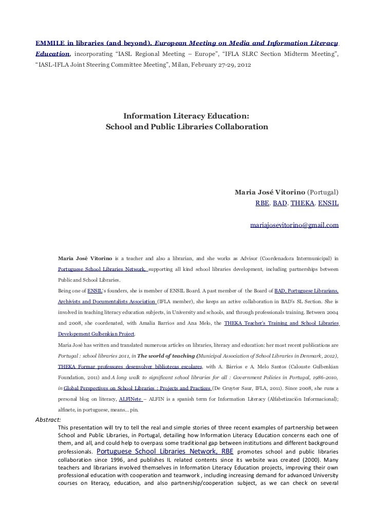 """EMMILE in libraries (and beyond). European Meeting on Media and Information LiteracyEducation, incorporating """"IASL Regiona..."""