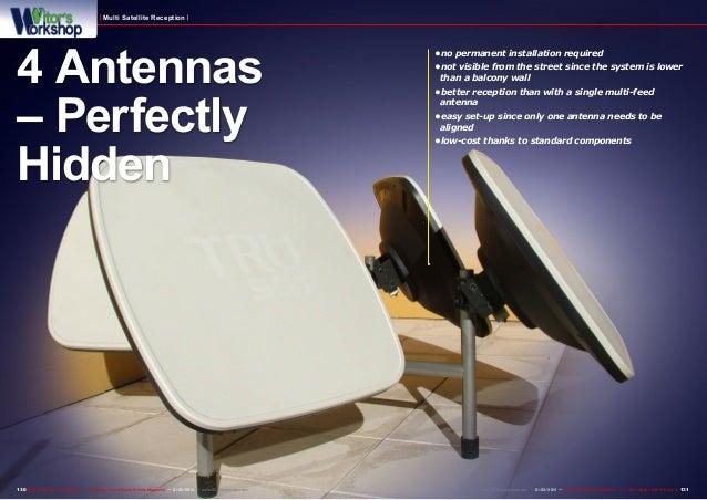 Multi Satellite Reception  4 Antennas – Perfectly Hidden  130 TELE-audiovision International — The World's Largest Digital...
