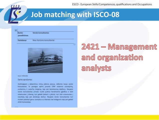 Job matching with ISCO-08