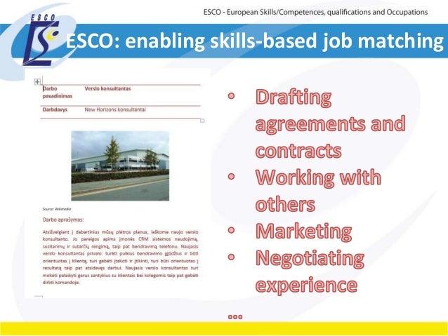 ESCO: enabling skills-based job matching