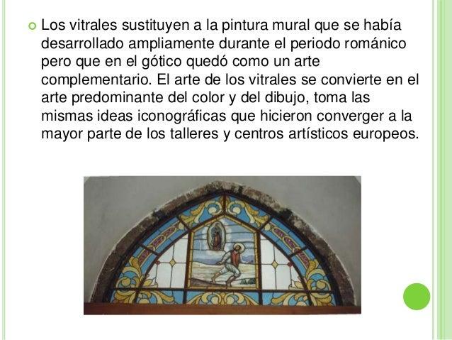 Vitrales g ticos for Definicion de pintura mural