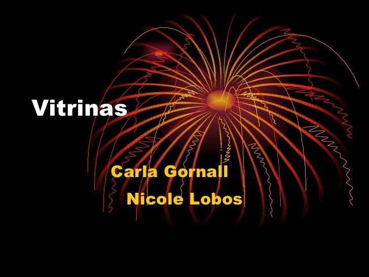 Vitrinas Carla Gornall Nicole Lobos