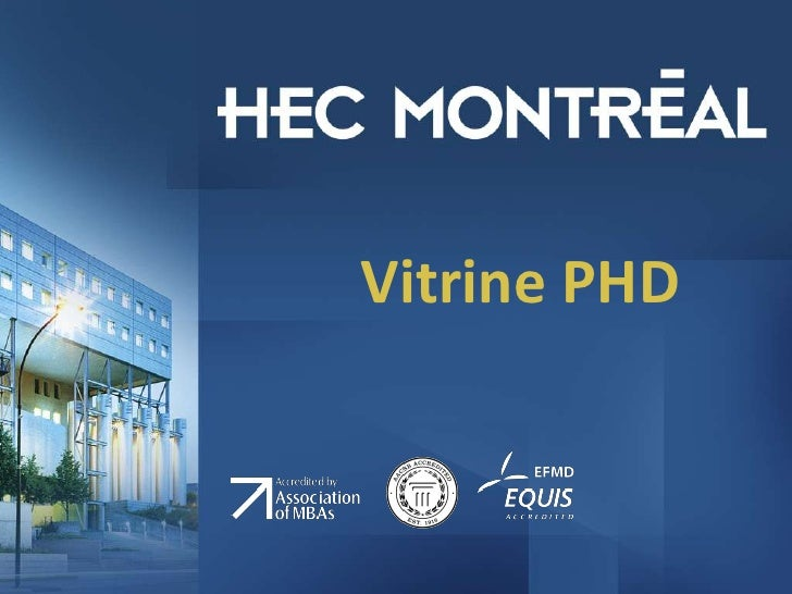 Vitrine PHD<br />