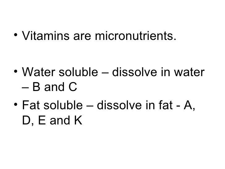 Vitamins, minerals and water Slide 3