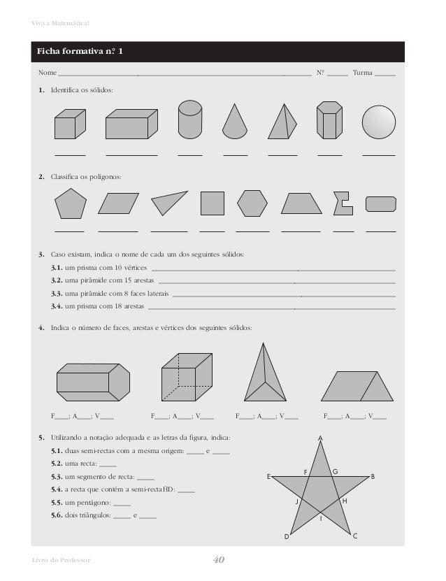 Viva a Matemática!  Nome _________________________________________________________________________ N.° ______ Turma ______...