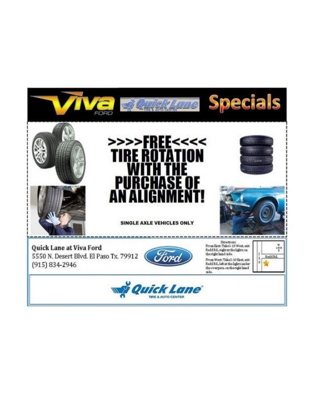 Viva Ford El Paso >> Viva Ford Tire Special El Paso Texas