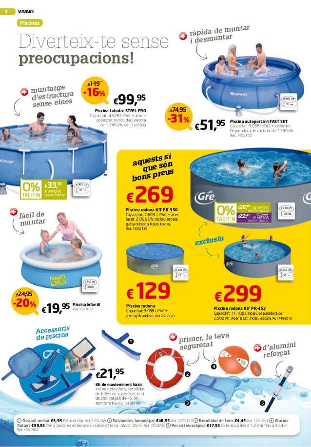 Vivaki 2013 ofertes piscina i jard aki parc d 39 aro for Aki piscinas hinchables