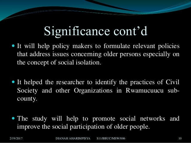 effects of isolation in the older person The first we understand the social problem of loneliness among the elderly as the   in the other group of research findings, consequences of loneliness for the.