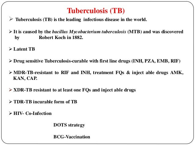 Phd thesis on tuberculosis