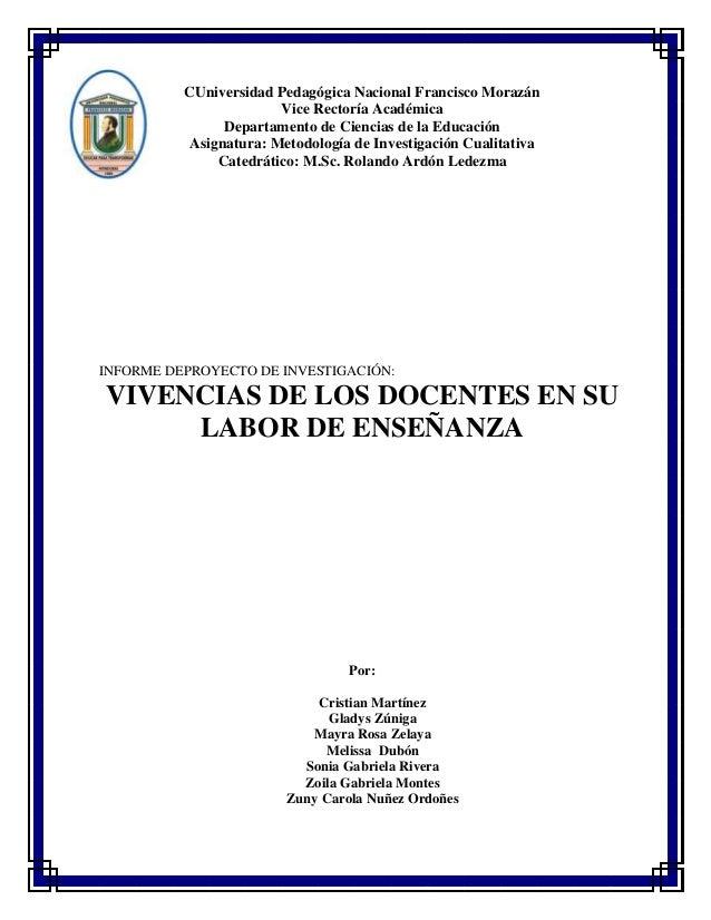CUniversidad Pedagógica Nacional Francisco Morazán Vice Rectoría Académica Departamento de Ciencias de la Educación Asigna...