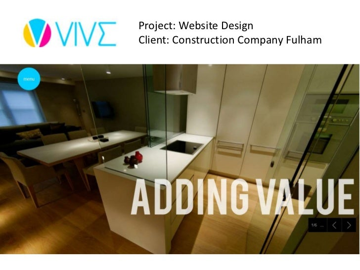 Project: Website DesignClient: Construction Company Fulham