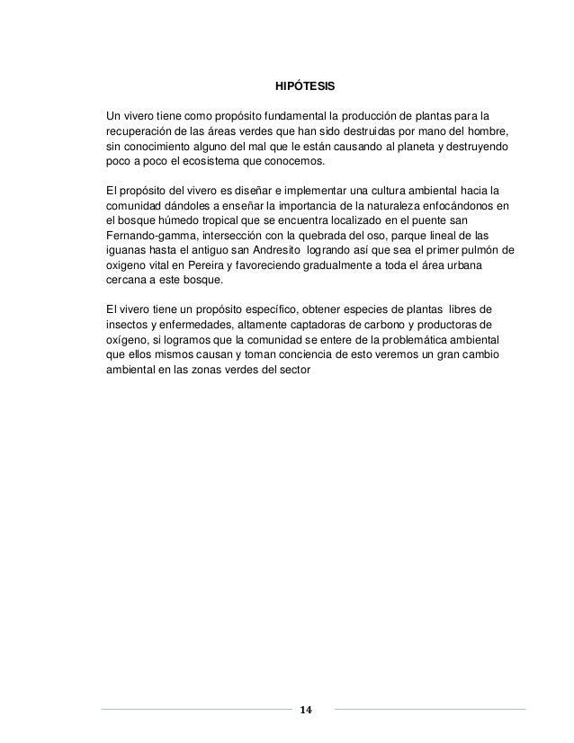 Vivero comunitario informe final de grado for Importancia de un vivero